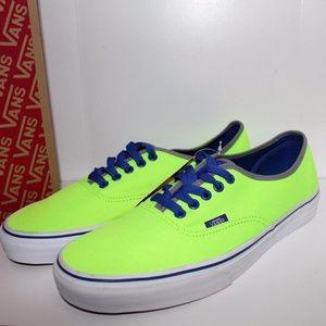 Vans Authentic (Brite) Neon Green/Blue NIB